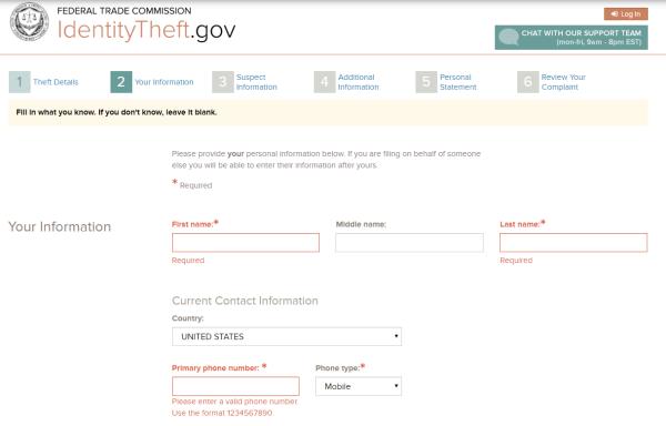 Screenshot of affidavit being created 4