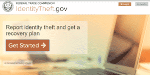 Identity Theft Affidavit Opening Screen