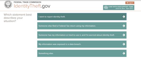 Screenshot of affidavit being created