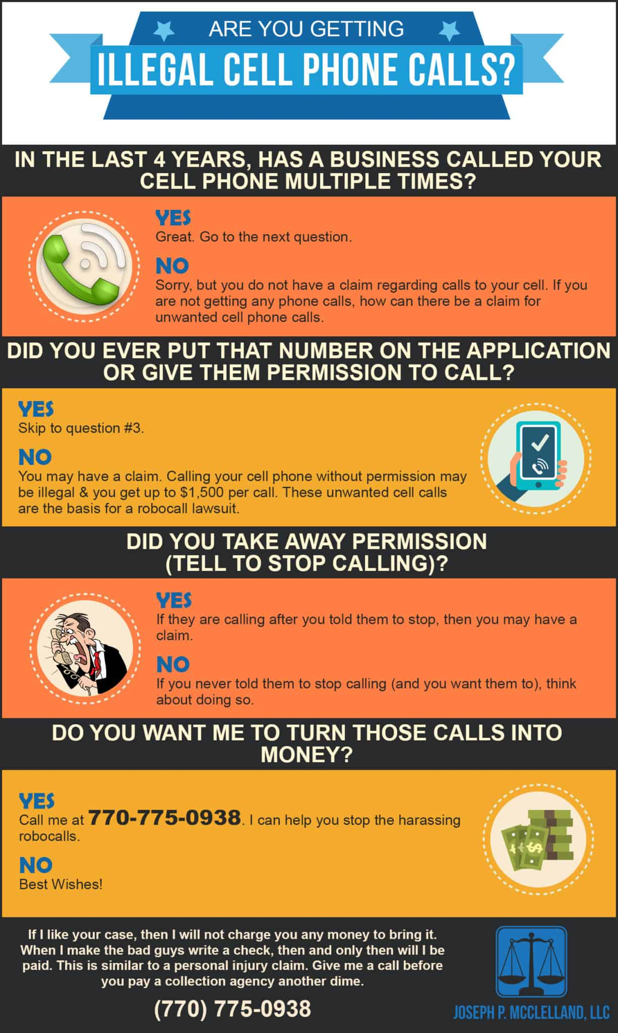 Are you getting illegal cell phone calls
