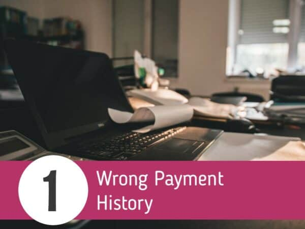 wrong payment history