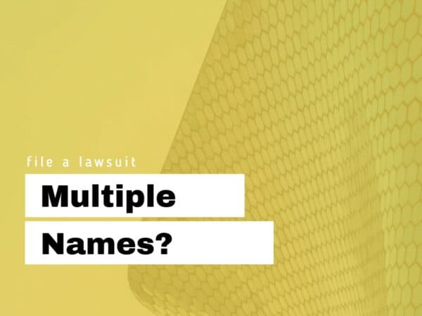 Multiple names