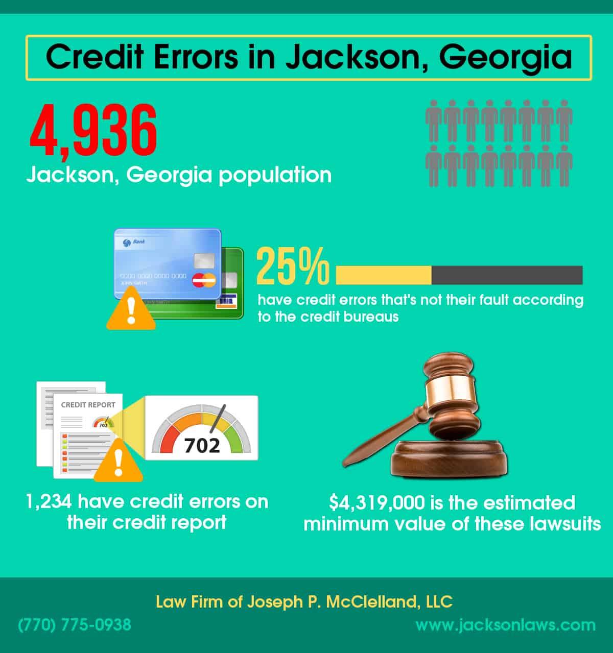 Jackson, GA Credit Errors