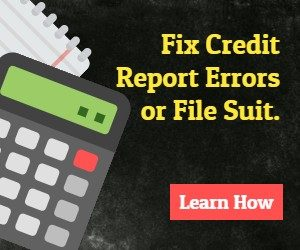 Fix Credit Errors or file suit